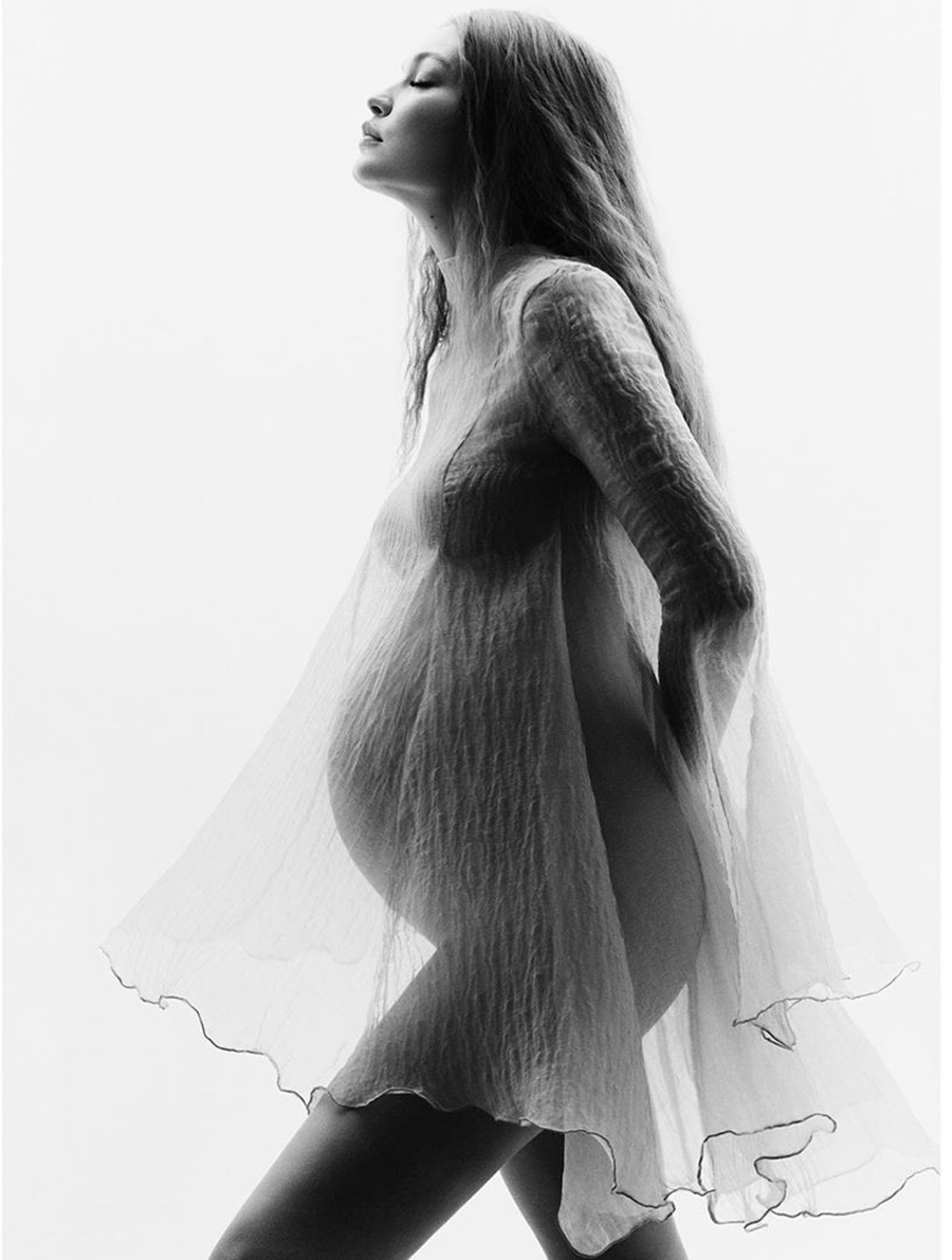 джиджи хадид впервые показала беременность ребенок модель