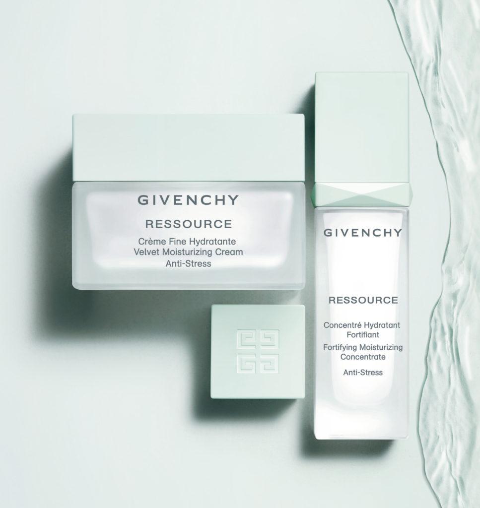Увлажняющий крем-антистресс и увлажняющий и укрепляющий концентрат-антистресс Ressource, Givenchy