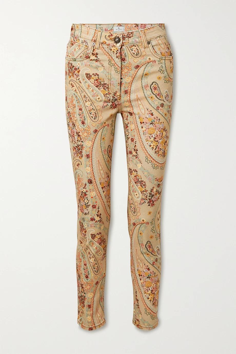 модные джинсы осень 2020 с принтами