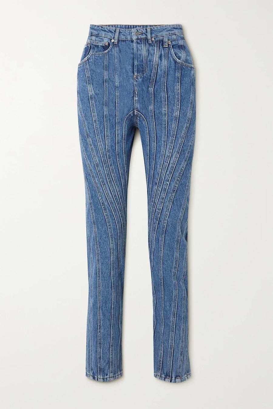 модные джинсы осень 2020 с декоративной строчкой