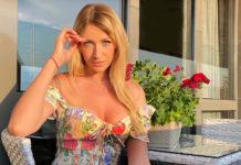 леся никитюк новый канал ведущая на отдыхе в платье с декольте мужчины деньги