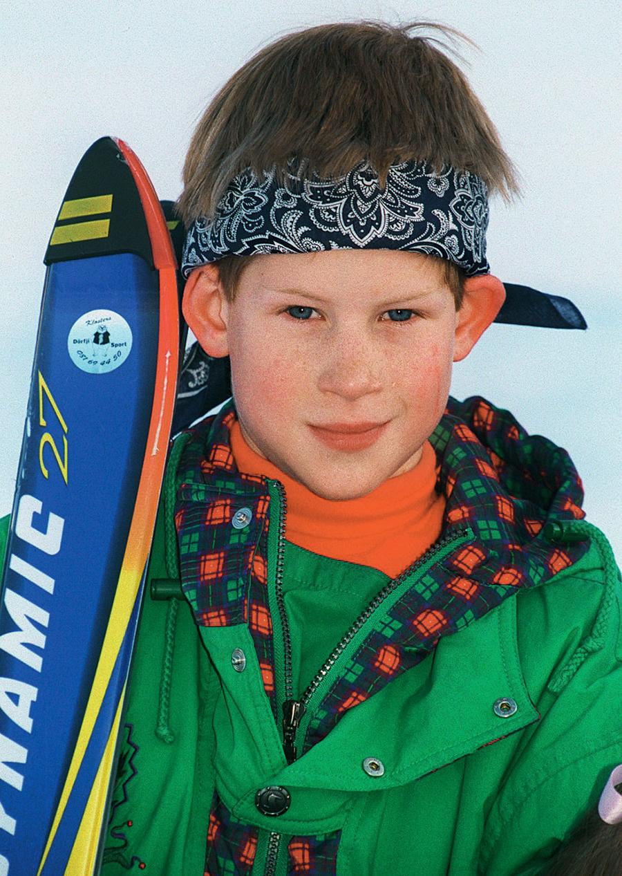 принц гарри день рождения детские фото на сноуборде на отдыхе в горах