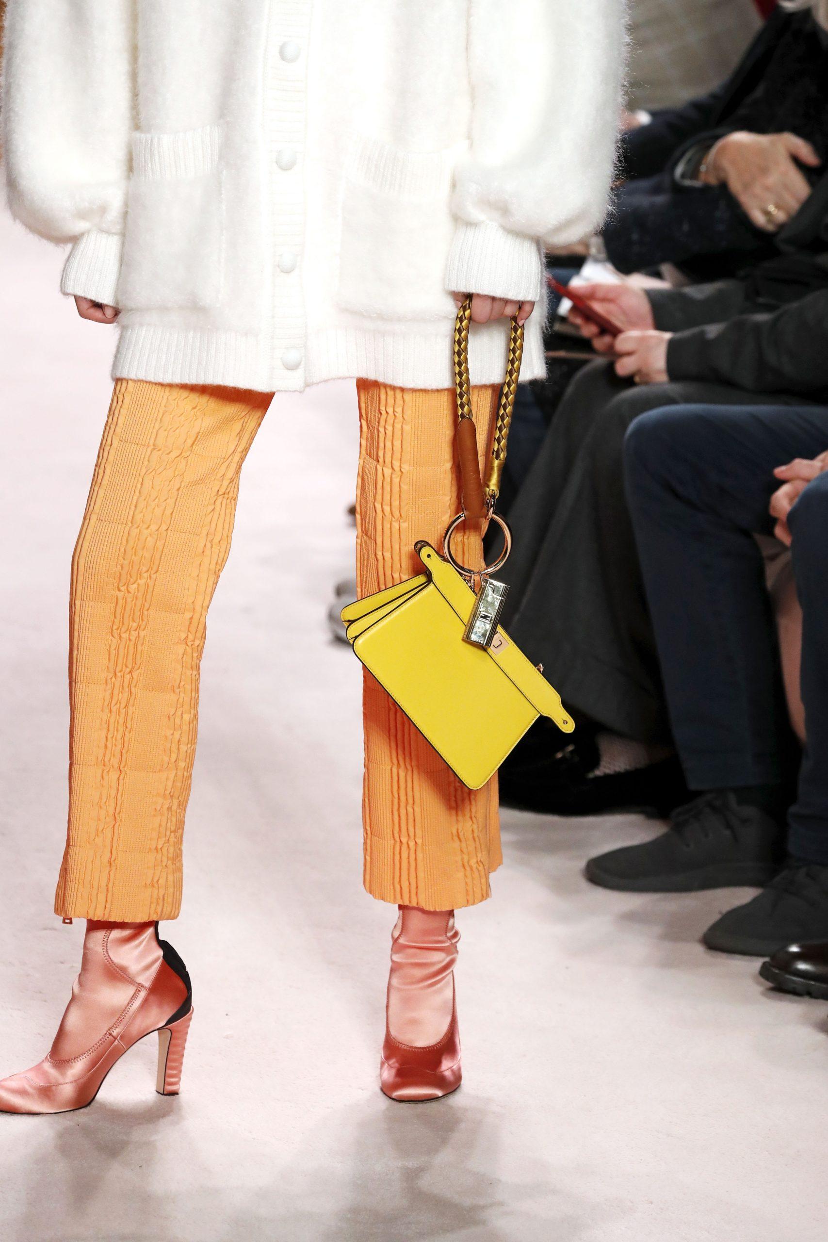 модная сумка барсетка осень зима 2020 2021 желтая ристлет
