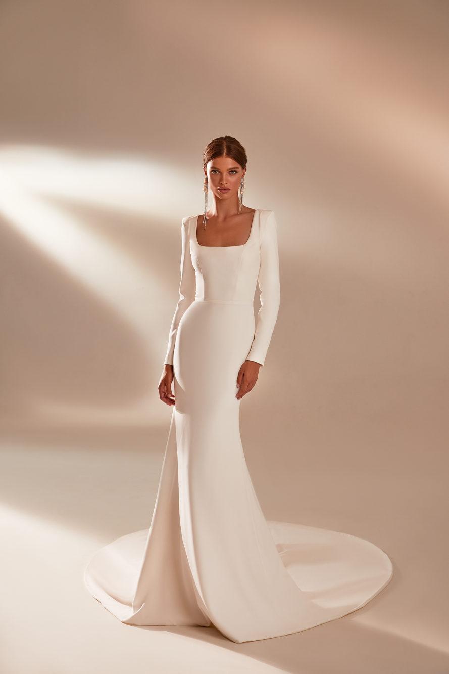 свадебные платья с длинными рукавами мода 2021