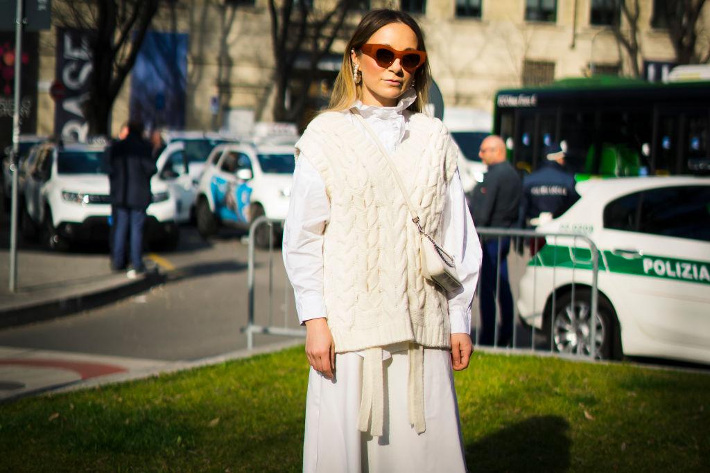 вязаный жилет мода 2020