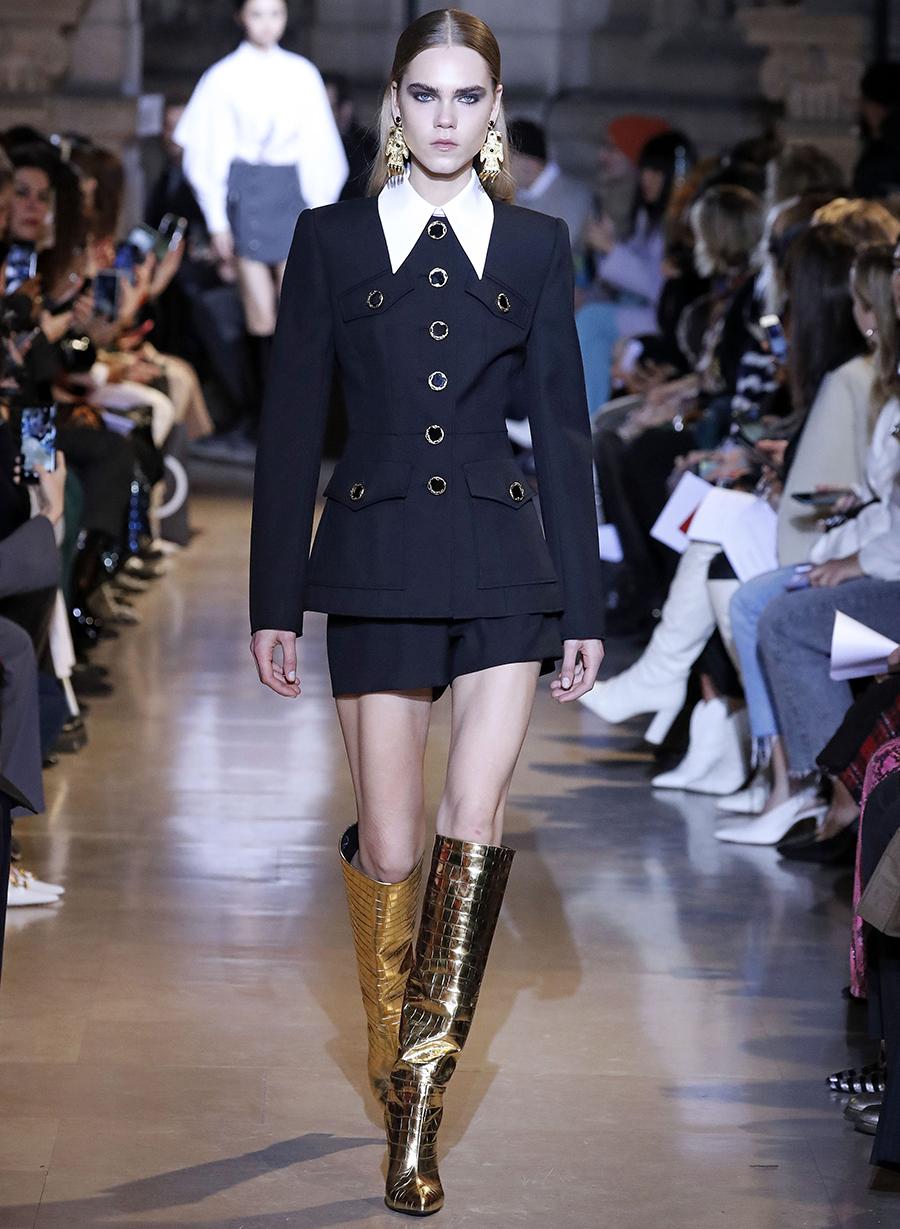 сапоги ботинки ботильоны сапоги на каблуке золотые металлик блестящие модные осень зима 2020 2021