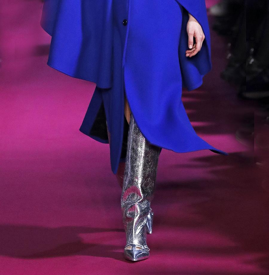 сапоги ботинки ботильоны сапоги на каблуке серебряные металлик блестящие модные осень зима 2020 2021