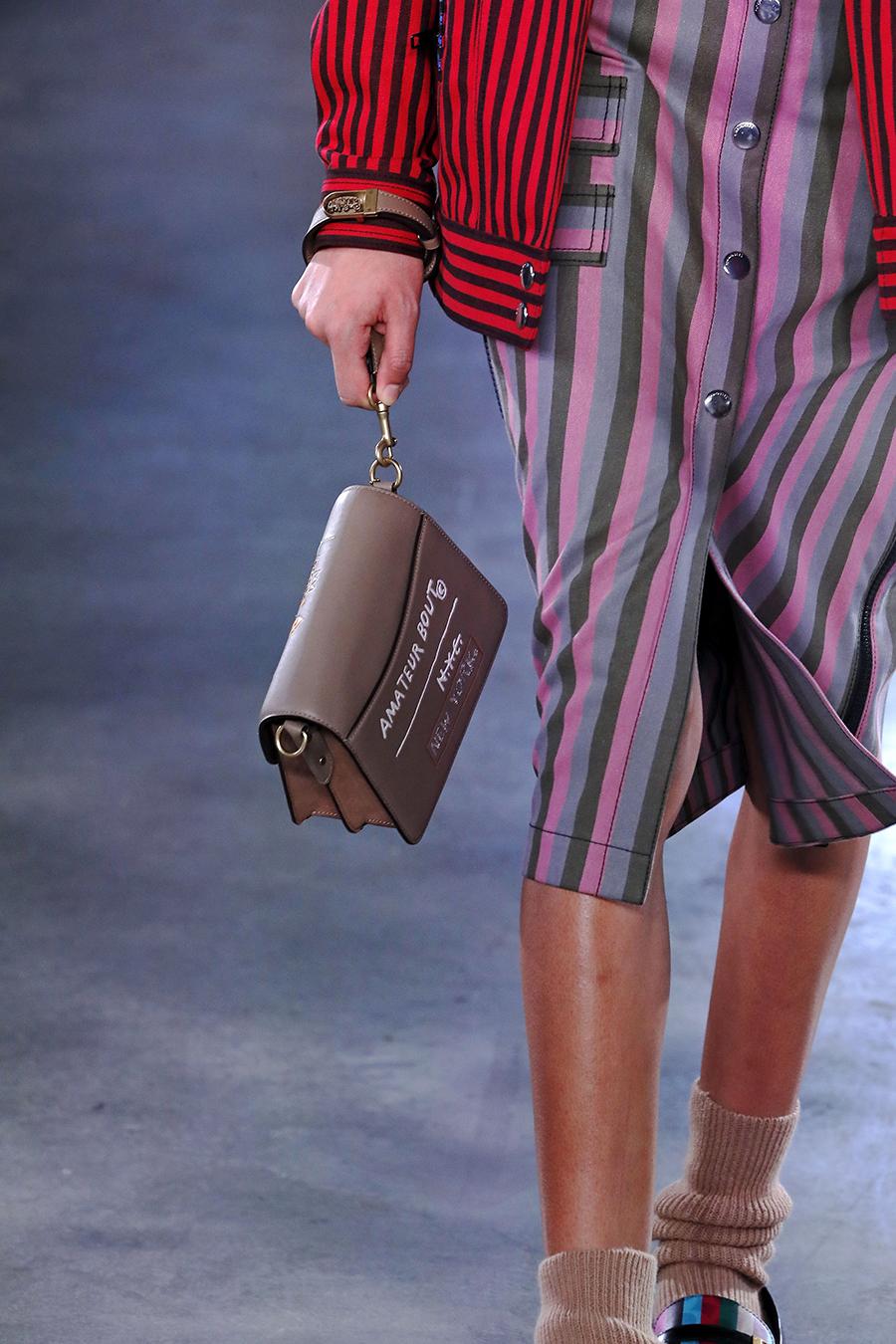 модная сумка барсетка осень зима 2020 2021 коричневая ристлет