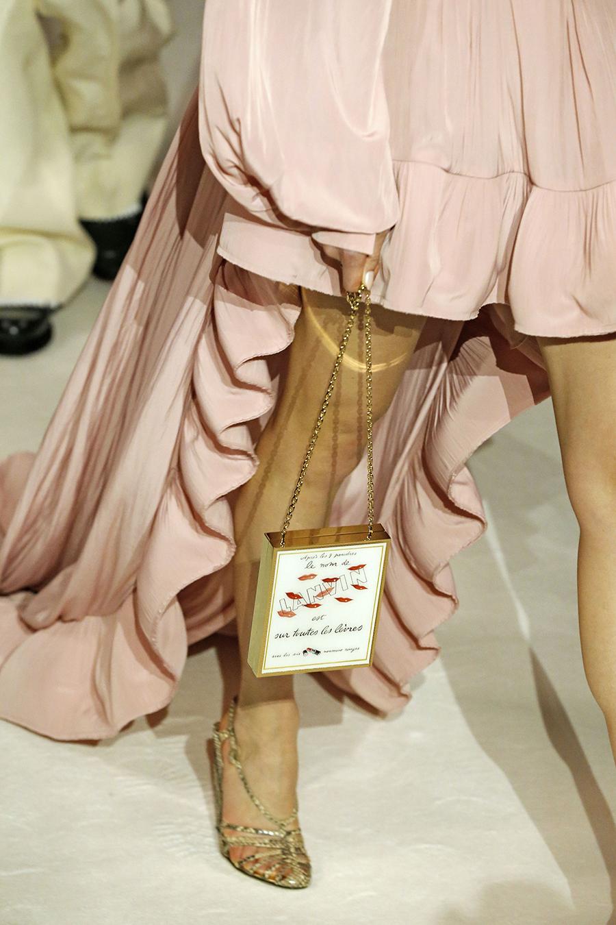 модная сумка минодьер осень зима 2020 2021 белая золотая прямоугольная