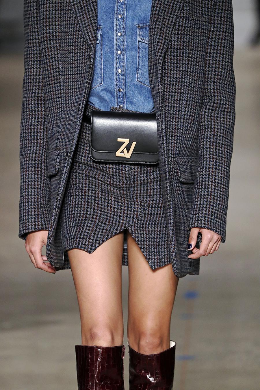 модная сумка поясная бананка на пояс осень зима 2020 2021 черная прямоугольная