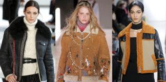 дубленки зима 2021 мода