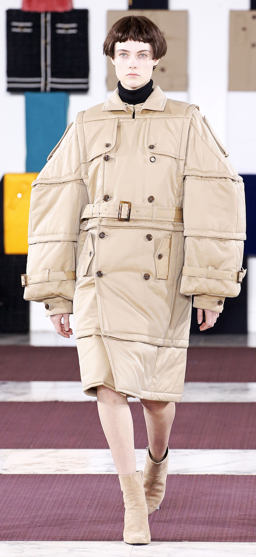 модная куртка пуховик парка осень зима 2020 2021 длинная бежевая оверсайз