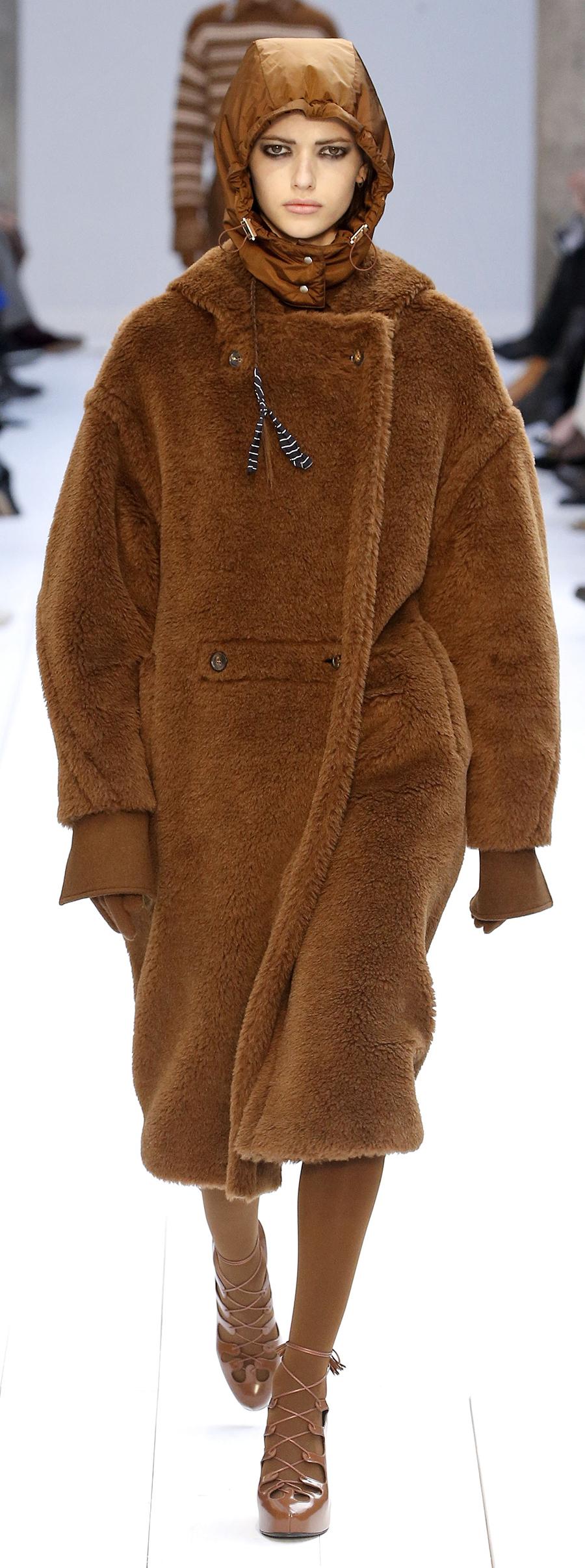 модная шуба осень зима 2020 2021 тедди коричневая овчина с капюшоном