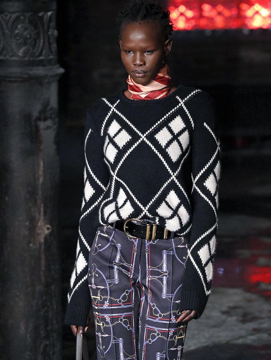 модный свитер клетка аргайл осень зима 2020 2021