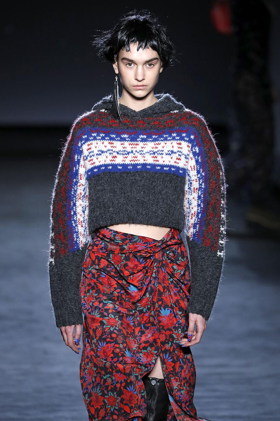 модный свитер короткий осень зима 2020 2021