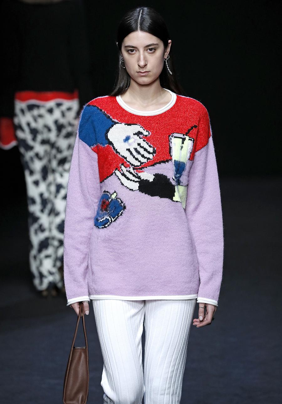 модный свитер с рисунком с принтом осень зима 2020 2021