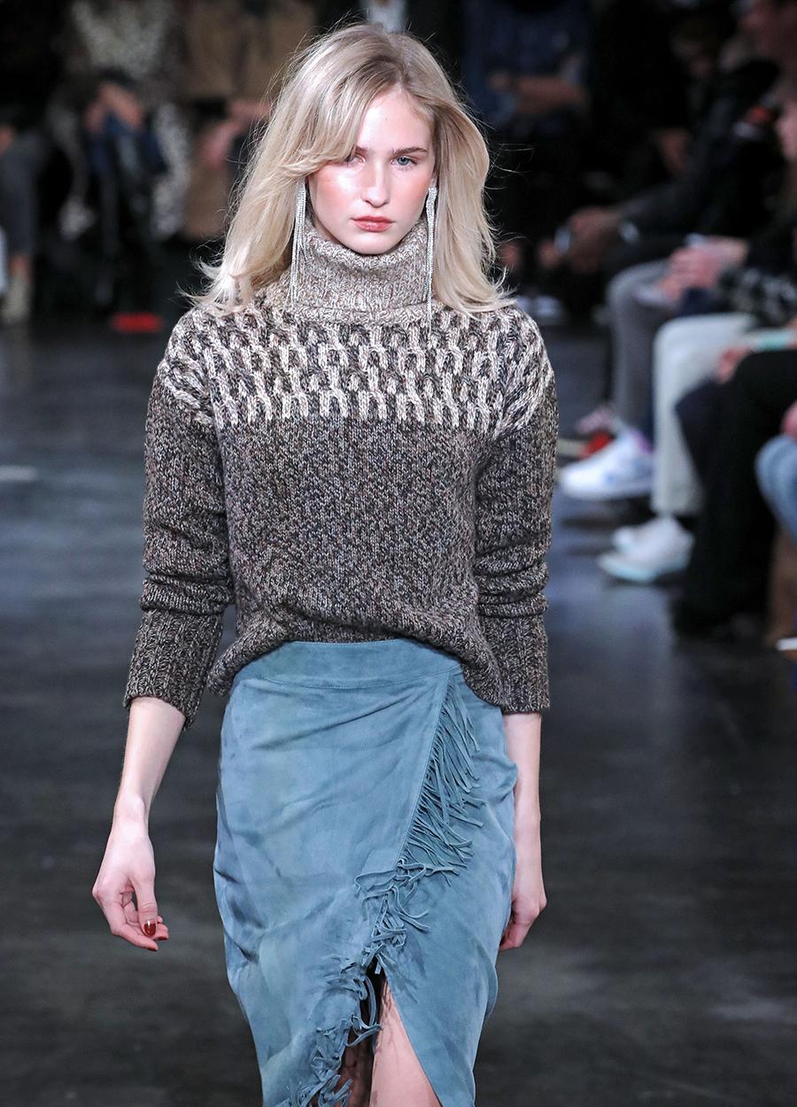 модный свитер винтажный в винтажном стиле осень зима 2020 2021 серый с рисунком