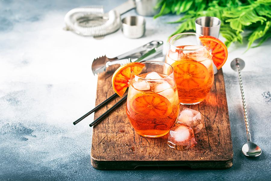 апероль шпритц коктейли рецепты приготовить дома новый год 2021