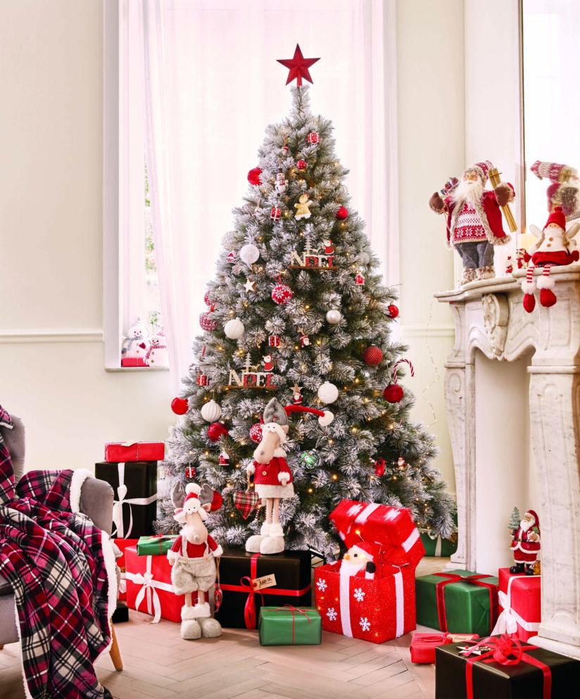 новогодняя елка украшения в классическом стиле