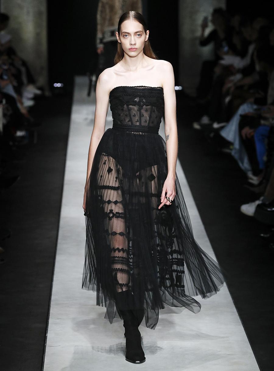платье тюль прозрачное черное миди что надеть на новый год 2021