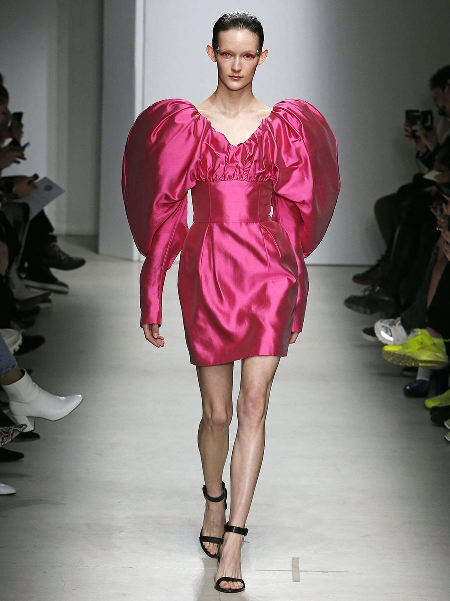платье пышные рукава короткое розовое что надеть на новый год 2021