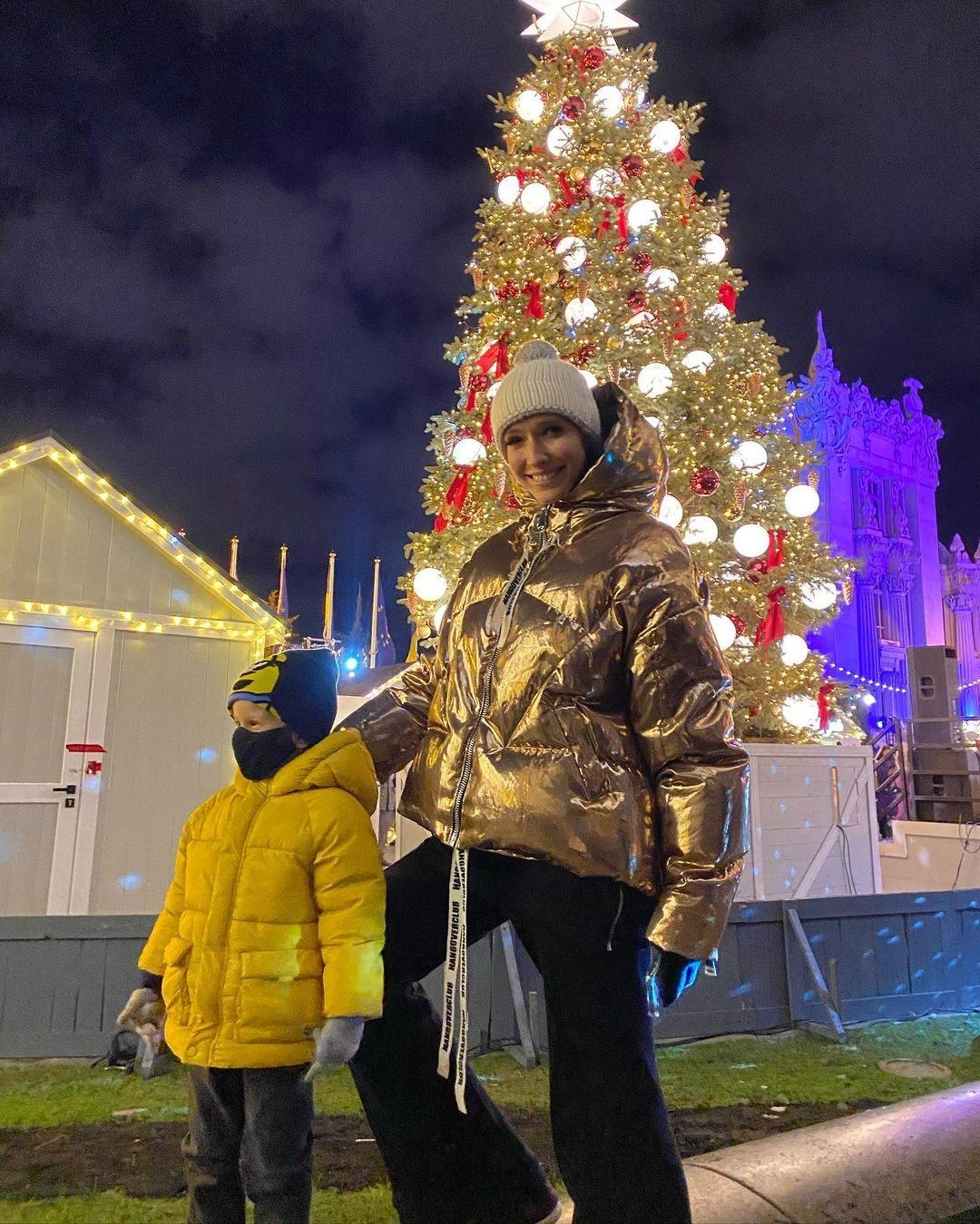 Катя Осадчая Рождество Новый год 2021 сын