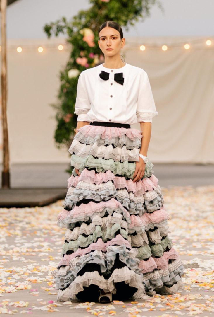 юбка с оборками 2021 chanel