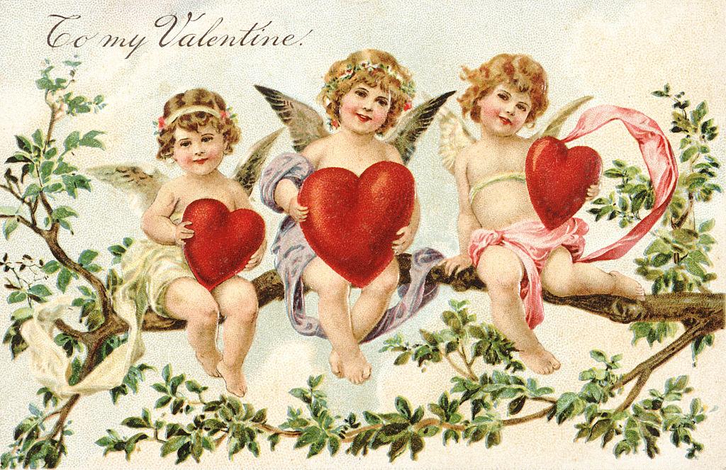 день валентина открытки