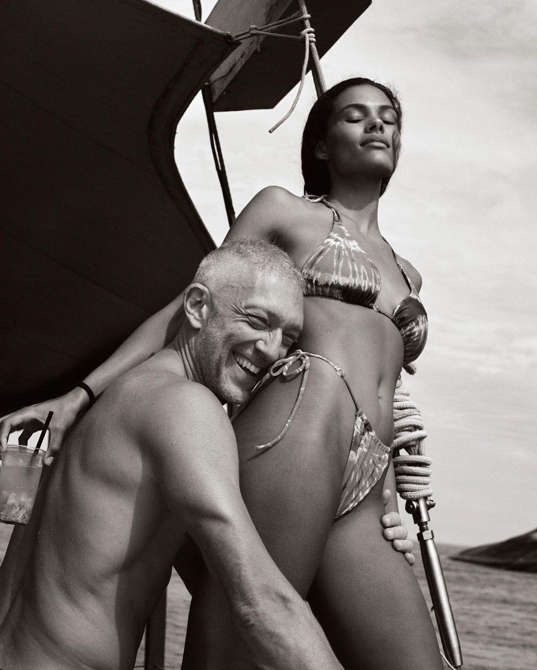 тина кунаки венсан кассель в купальнике пляж новый год