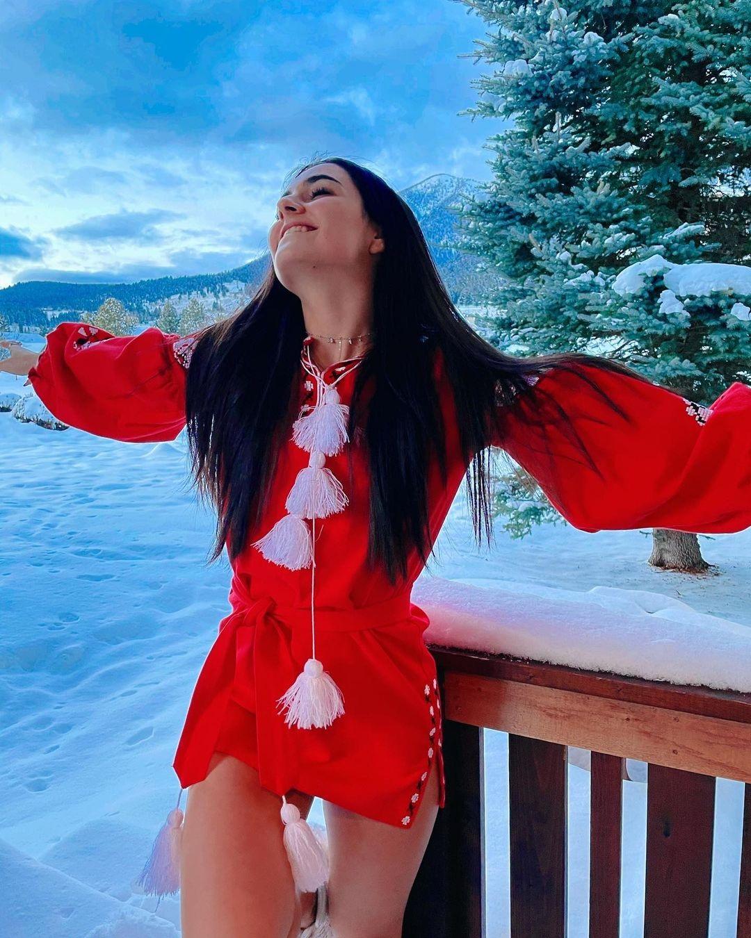 украинские звезды отдых новый год 2021 рождество отпуск путешествие анна тринчер