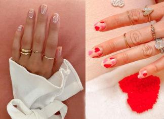 маникюр надень влюбленных 14 февраля святого валентина френч красный нейл-арт нейл-дизайн