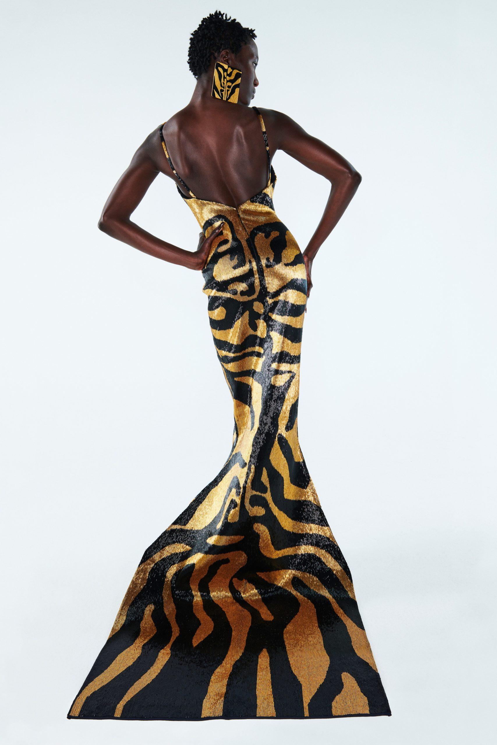 платьетигровой расцветки Schiaparelli