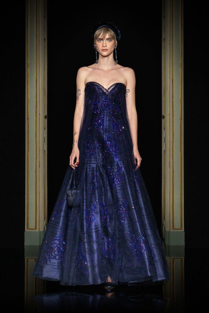 Armani вечернее платье без бретелек 2021