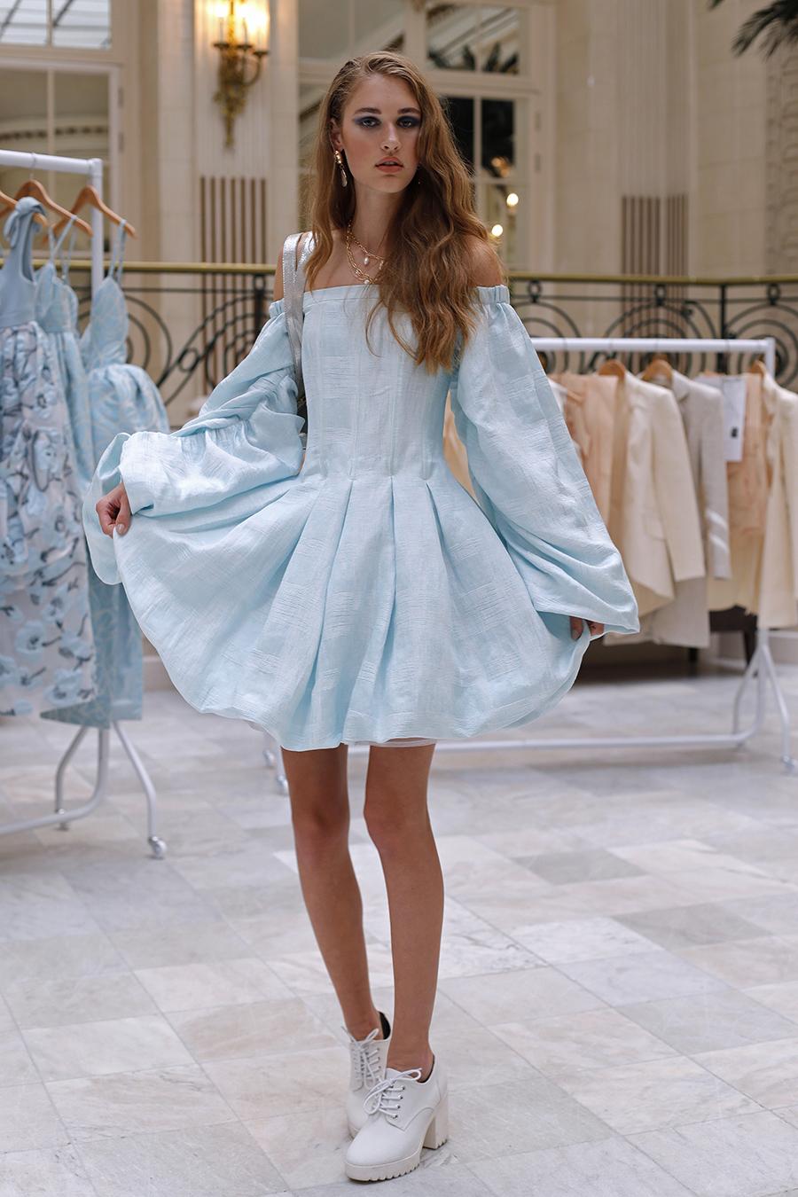 что надеть день влюбленных валентина платье кукольное беби долл короткое голубое пышная юбка