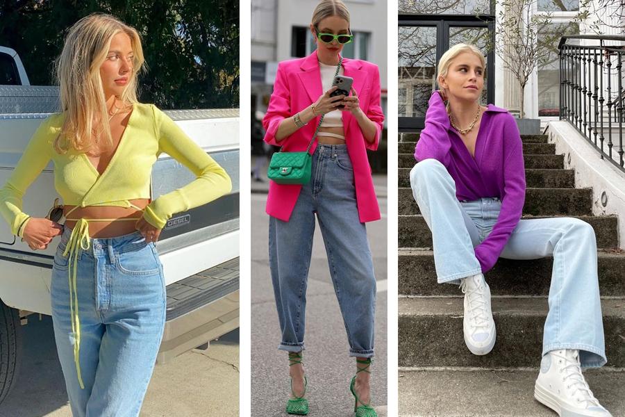 джинсы модные как носить весна 2021