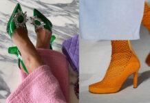 обувь весна 2021 туфли ботильоны ботинки яркие с пряжкой перфорацией
