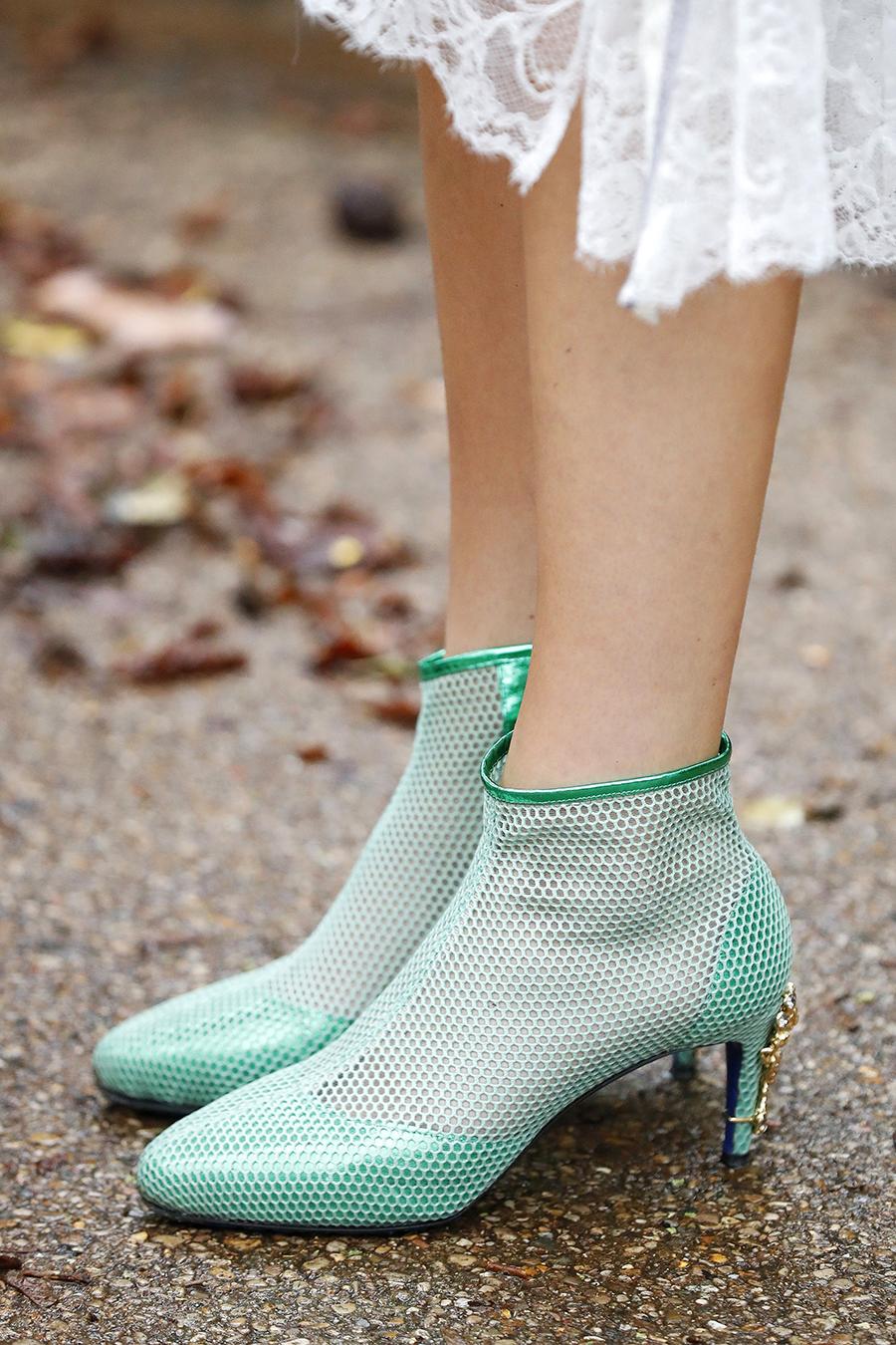 обувь весна 2021 туфли ботильоны ботинки яркие с перфорацией зеленые салатовые на каблуке