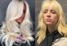 блонд окрашивание билли айлиш весна 2021