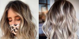модный блонд покраска окрашивание 2021 весна темный корень растяжка цвета