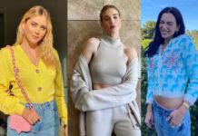 кардиган модный короткий длинный яркий весна 2021 как носить