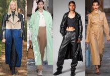 модный тренч весна 2021 плащ макси кожаный бежевый пэчворк