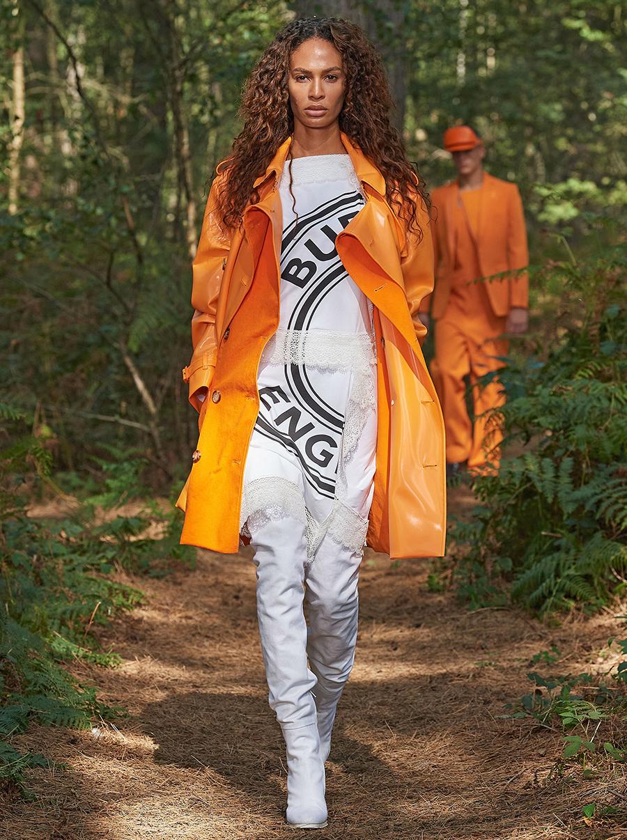 модный тренч весна 2021 глянцевый блетящий миди короткий оранжевый