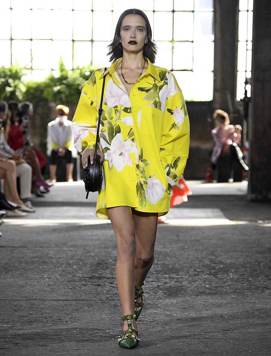 модная блуза блузка рубашка оверсайз длинная желтая цветы