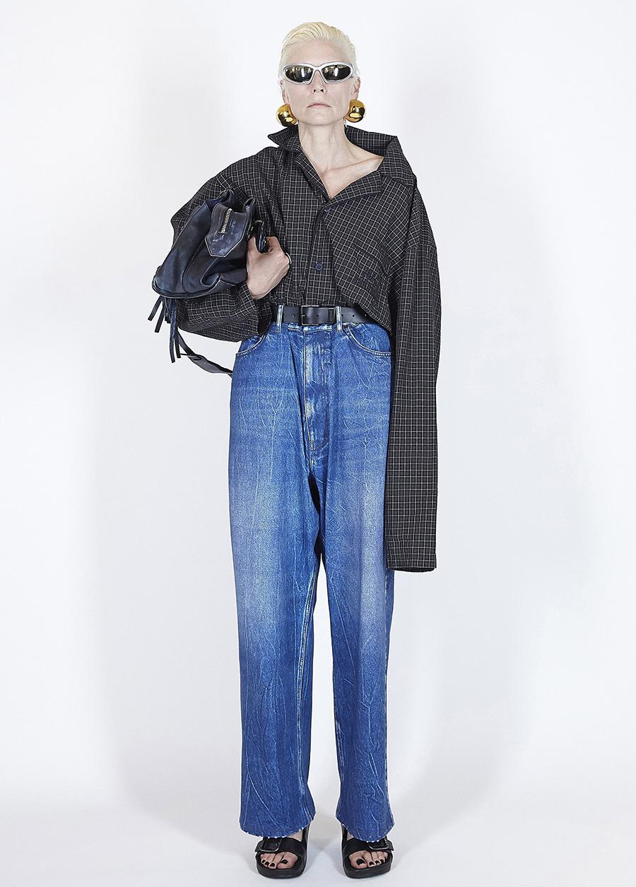 модная блуза блузка рубашка оверсайз длинная черная в клетку
