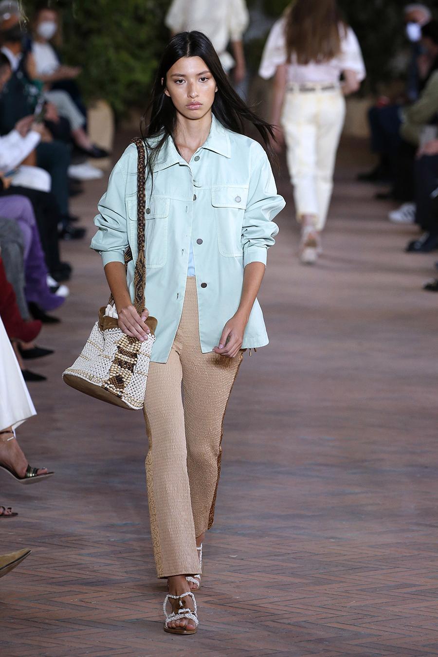 модная блуза блузка рубашка джинсовая мятная