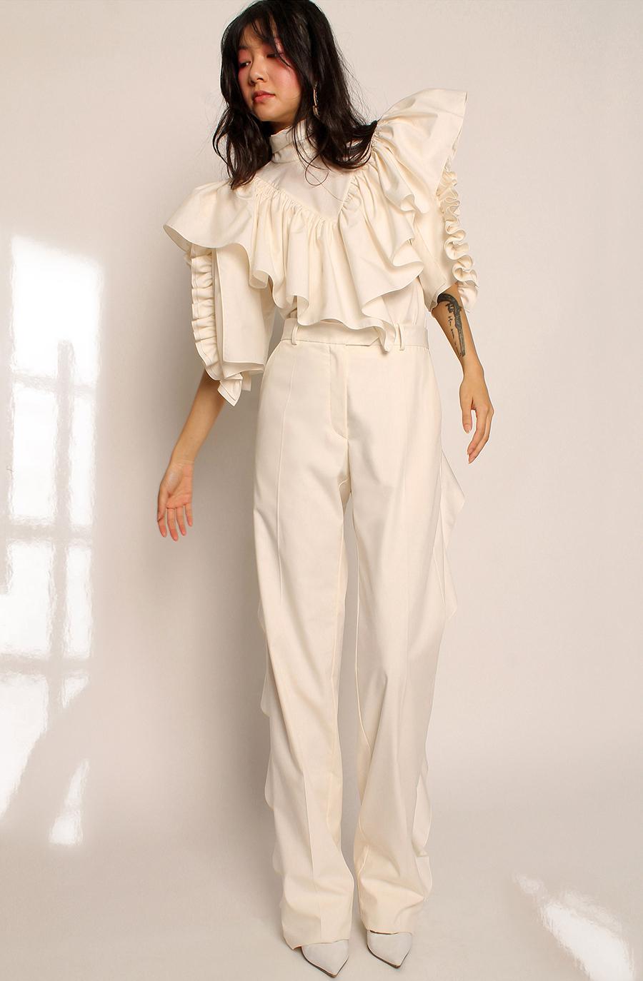 модная блуза блузка рубашка оборки белая