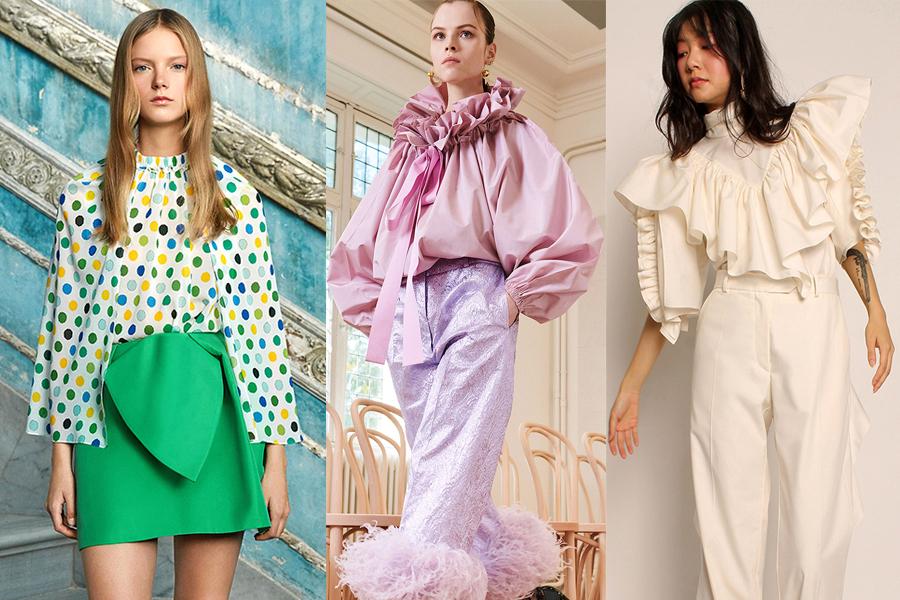 модная блуза блузка рубашка весна 2021