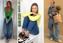 джинсы модные весна 2021 скинни трубы оверсайз рваные голубые синие весна 2021