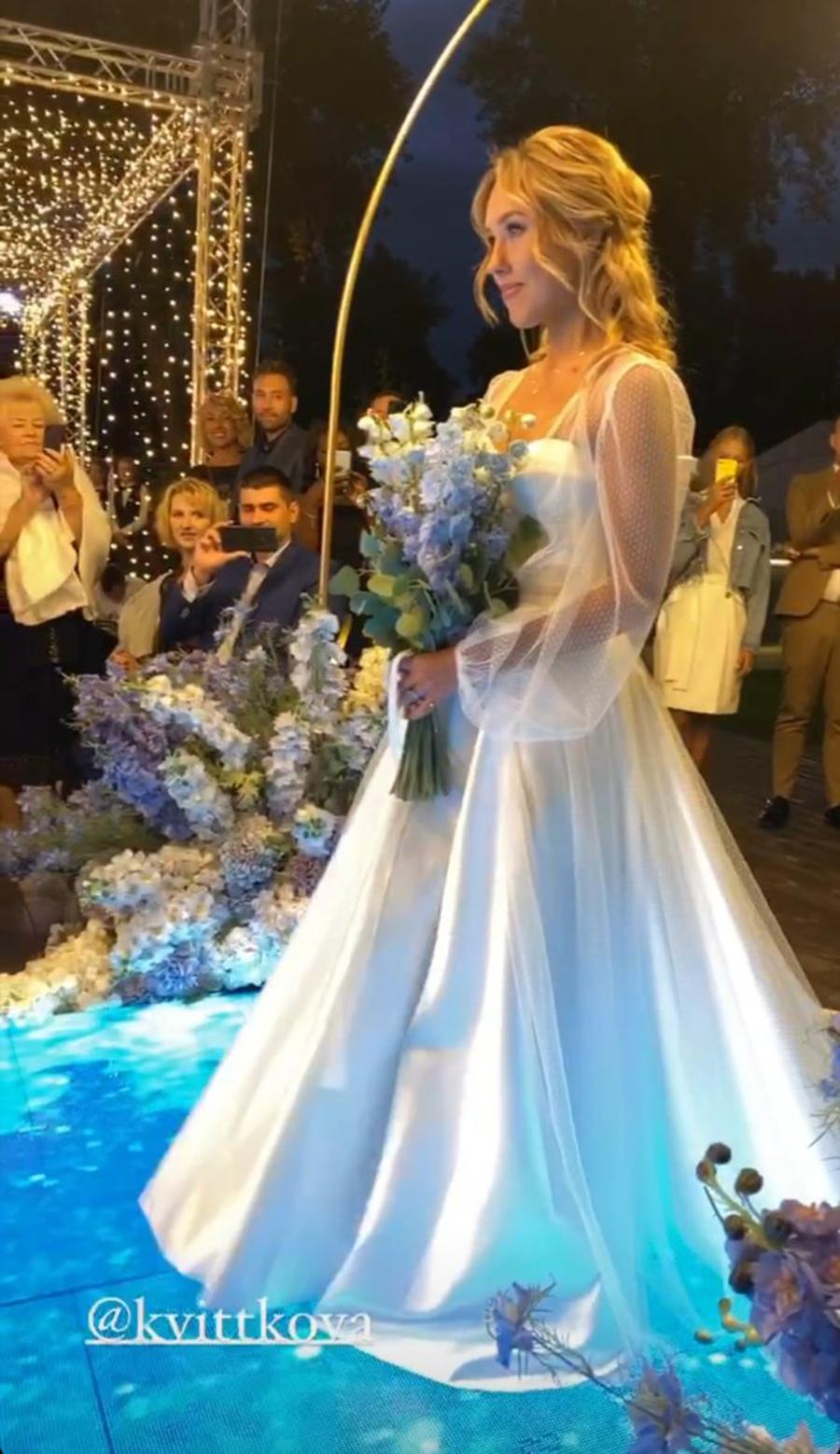 даша квиткова никита добрынин свадьба свадебное платье белое длинное украинские звезды в чем выходят замуж
