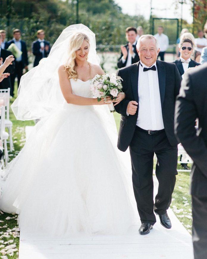 Екатерина Сергей Притула свадьба свадебное платье пышное белое украинские звезды в чем выходят замуж